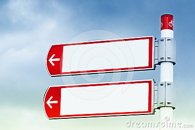 Road signs direction
