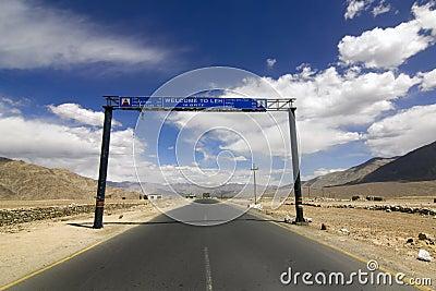 Road signs in Srinagar Leh highway, Ladakh