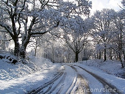 Road after snowfall