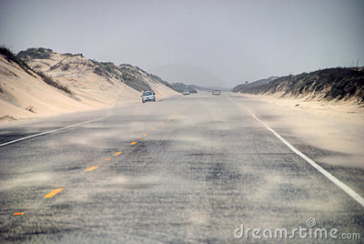 Road in South Padre Island