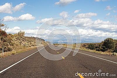 road through south Utah