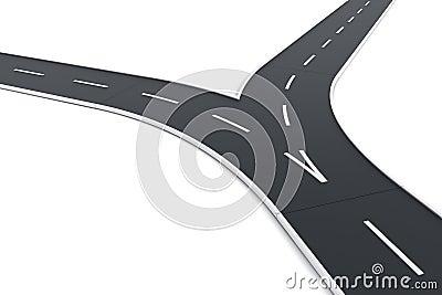 Road splitting up