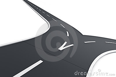 Road splitting up
