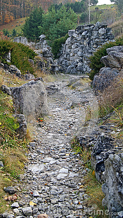 Road and stones