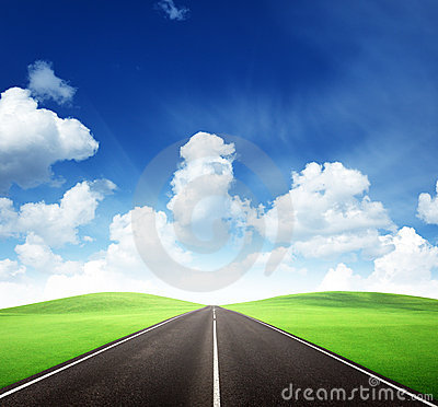 Road and sunny day