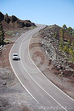 Free Road Through Volcanic Landscap Royalty Free Stock Image - 2561276