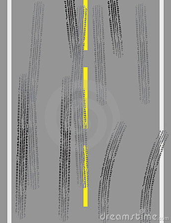 Road with tire tracks