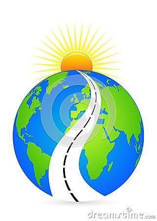 Road to bright future Vector Illustration