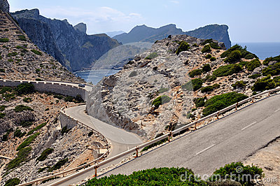 Road to Cap de Formentor in Majorca