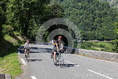 On the Road to Col d Aubisque Editorial Photo