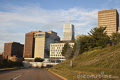 Road to downtown of Akron