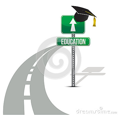 Road to education illustration design
