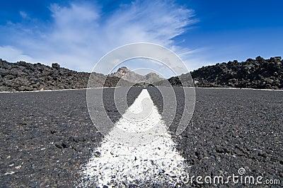 Road to El Teide