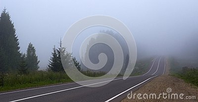 The road to a fog