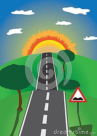 Road to the horizon