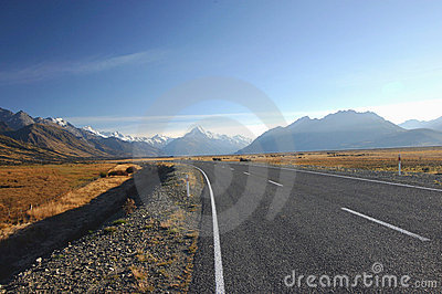 A Road to Mount Cook