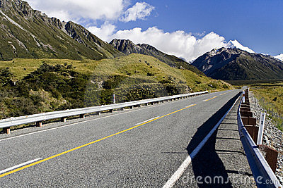 Road to the Mount Cook
