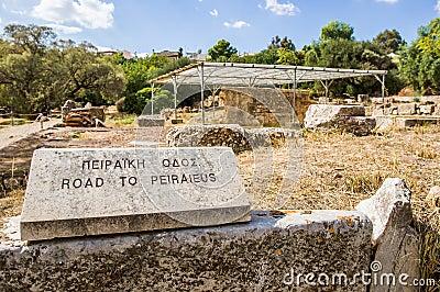 Road to Piraeus in Agora, Athens