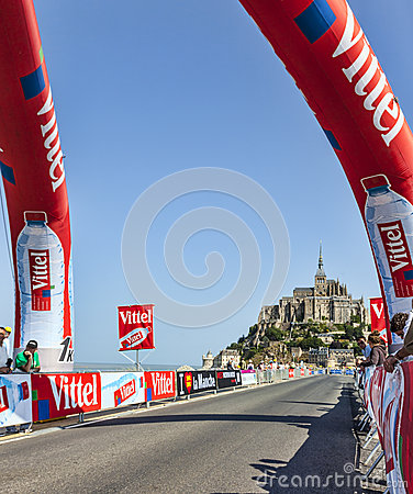 The Road to St. Michel During Le Tour de France Editorial Image