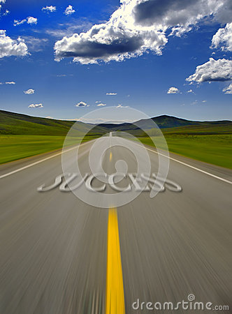 Free Road To Success Royalty Free Stock Image - 26576496