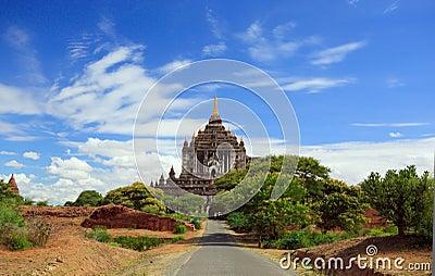 Road to the temple of bagan,myanmar