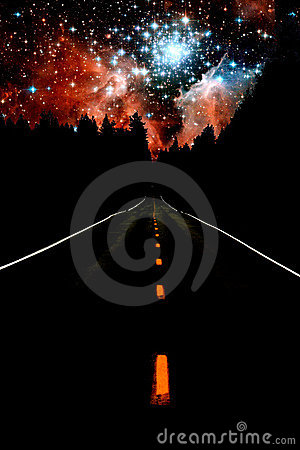 Free Road To The Stars Royalty Free Stock Photography - 12925907