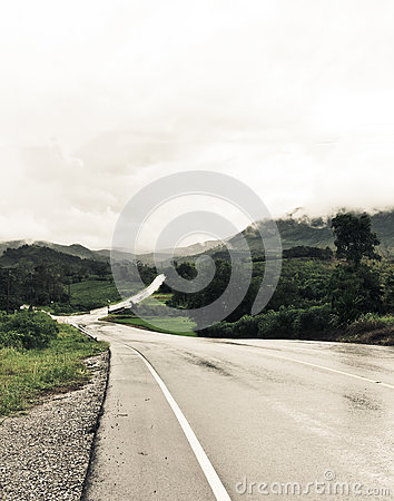 Free Road To The Unknown Mist Stock Photography - 76876202