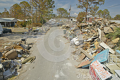Road to total destruction Editorial Stock Image