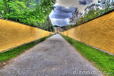 Road to a tourist attraction in salzburg, austria