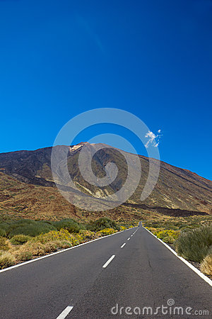 Road to volcano Teide, Tenerife, Spain