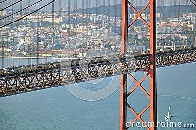 Road traffic on the bridge