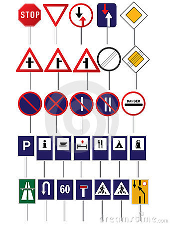Road traffic signs