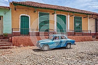 On the road in Trinidad, Cuba Editorial Photo