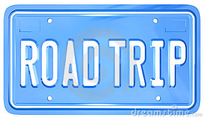 Road Trip Vanity License Plate Holiday Travel