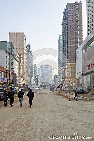 Road under construction Editorial Image