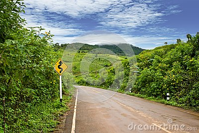 Road up to the hill