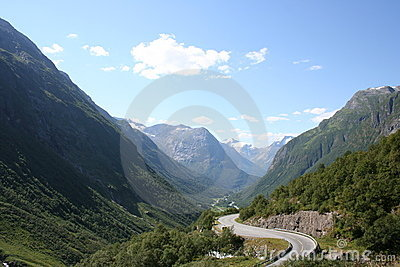 Road in valley