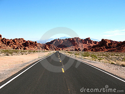 Road in Valley of Fire Nevada