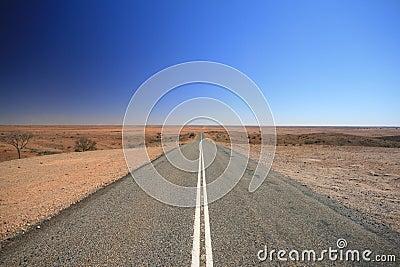 Road van Australië van het binnenland