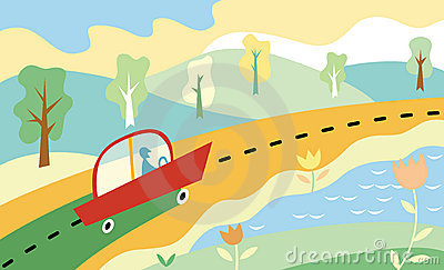 Road. vector illustration