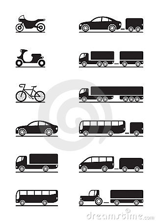 Road vehicles icons