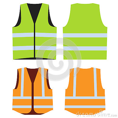 Free Road Vest For Safe Work. Front And Back Side. Stock Image - 78662191