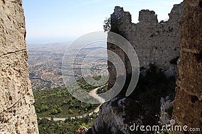 Road and walls