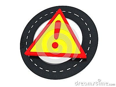 Road warning