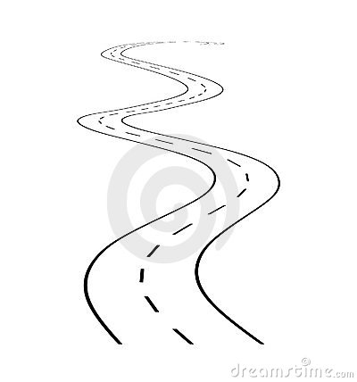 Free Road With Turn 1 Stock Photo - 8510110