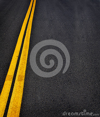 Free Road With Yellow Lines Stock Images - 26955864