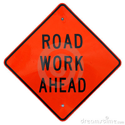 Free Road Work Ahead Royalty Free Stock Images - 622779
