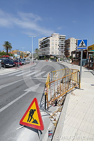 Road Works Editorial Image