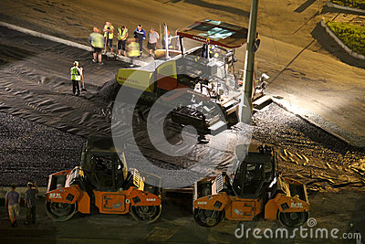 Road works Editorial Photography