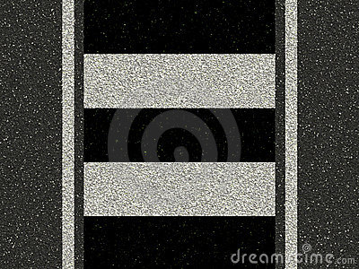 Road with zebra crossing